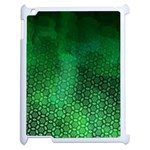 Ombre Green Abstract Forest Apple iPad 2 Case (White) Front