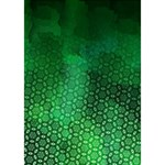 Ombre Green Abstract Forest WORK HARD 3D Greeting Card (7x5) Inside