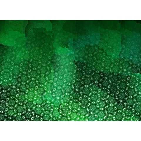 Ombre Green Abstract Forest Birthday Cake 3D Greeting Card (7x5)