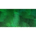 Ombre Green Abstract Forest Happy New Year 3D Greeting Card (8x4) Front