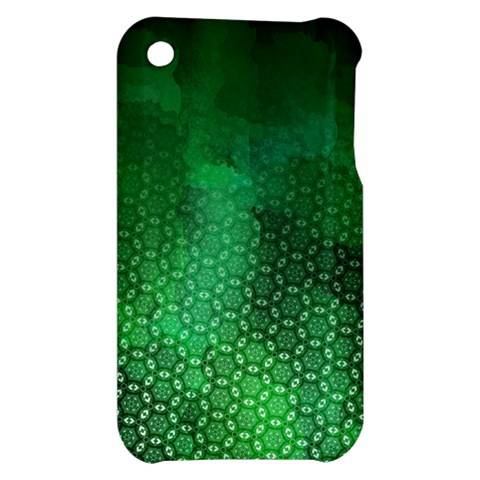Ombre Green Abstract Forest Apple iPhone 3G/3GS Hardshell Case