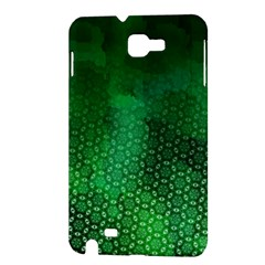 Ombre Green Abstract Forest Samsung Galaxy Note 1 Hardshell Case