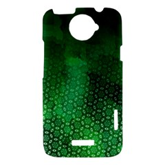 Ombre Green Abstract Forest HTC One X Hardshell Case