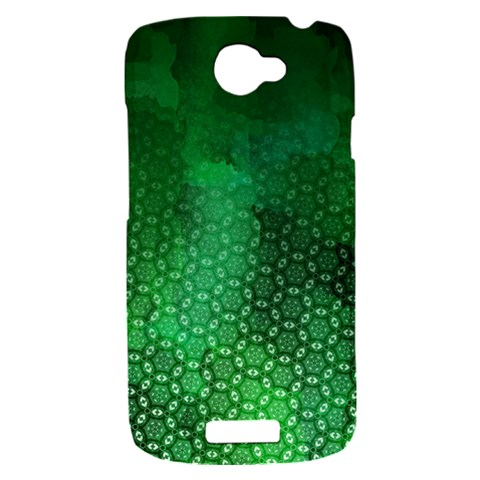 Ombre Green Abstract Forest HTC One S Hardshell Case
