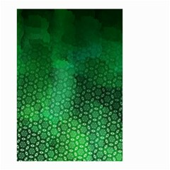 Ombre Green Abstract Forest Small Garden Flag (Two Sides)