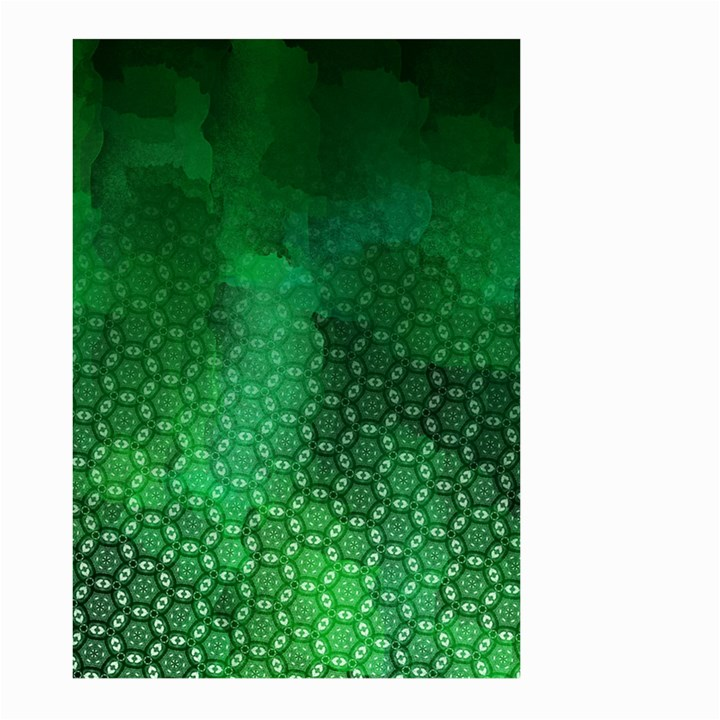 Ombre Green Abstract Forest Large Garden Flag (Two Sides)