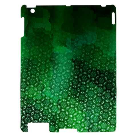 Ombre Green Abstract Forest Apple iPad 2 Hardshell Case