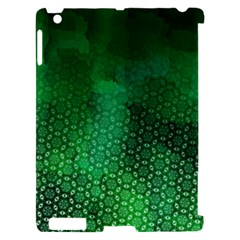 Ombre Green Abstract Forest Apple iPad 2 Hardshell Case (Compatible with Smart Cover)