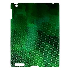 Ombre Green Abstract Forest Apple iPad 3/4 Hardshell Case