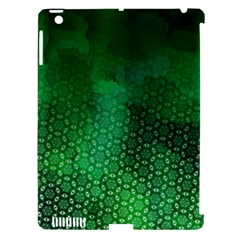 Ombre Green Abstract Forest Apple iPad 3/4 Hardshell Case (Compatible with Smart Cover)