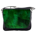 Ombre Green Abstract Forest Messenger Bags Front