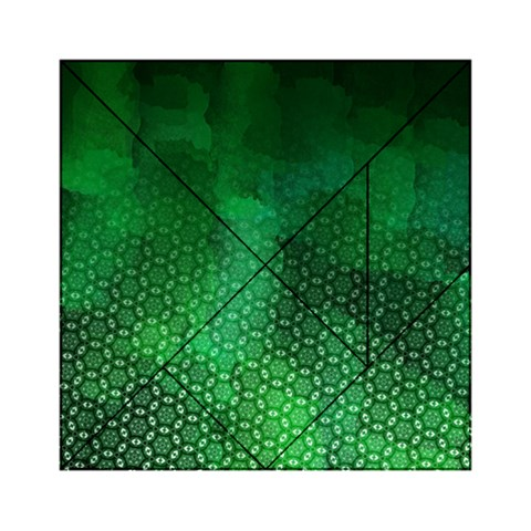 Ombre Green Abstract Forest Acrylic Tangram Puzzle (6  x 6 )