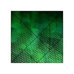 Ombre Green Abstract Forest Acrylic Tangram Puzzle (4  x 4 ) Front