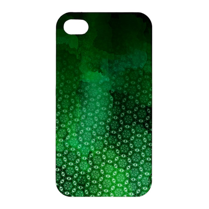 Ombre Green Abstract Forest Apple iPhone 4/4S Premium Hardshell Case