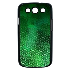 Ombre Green Abstract Forest Samsung Galaxy S III Case (Black)