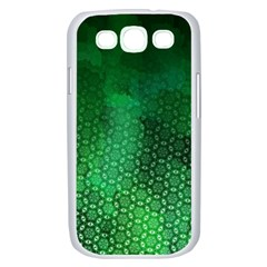 Ombre Green Abstract Forest Samsung Galaxy S III Case (White)