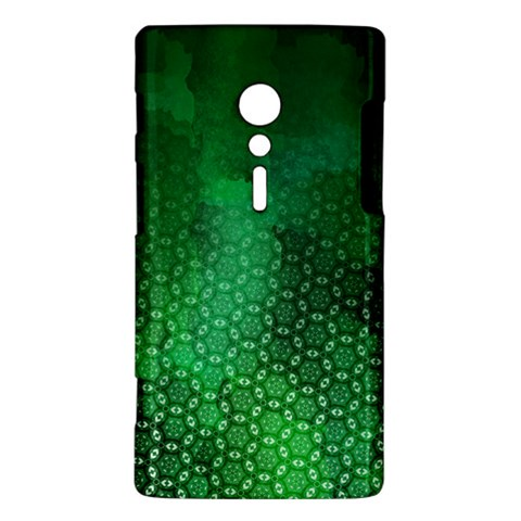 Ombre Green Abstract Forest Sony Xperia ion