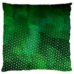 Ombre Green Abstract Forest Large Cushion Case (One Side) Front