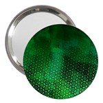 Ombre Green Abstract Forest 3  Handbag Mirrors Front