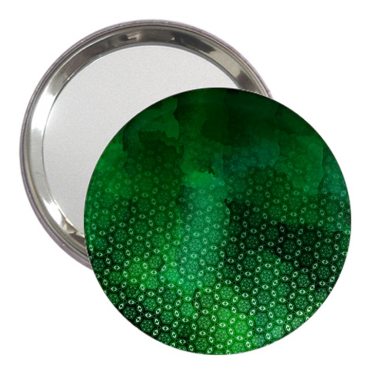 Ombre Green Abstract Forest 3  Handbag Mirrors