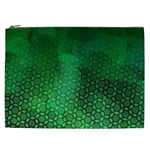 Ombre Green Abstract Forest Cosmetic Bag (XXL)  Front