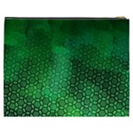 Ombre Green Abstract Forest Cosmetic Bag (XXXL)  Back