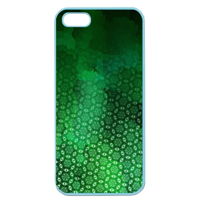 Ombre Green Abstract Forest Apple Seamless iPhone 5 Case (Color)