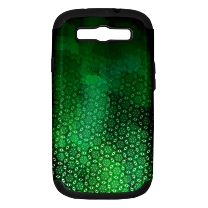 Ombre Green Abstract Forest Samsung Galaxy S III Hardshell Case (PC+Silicone)