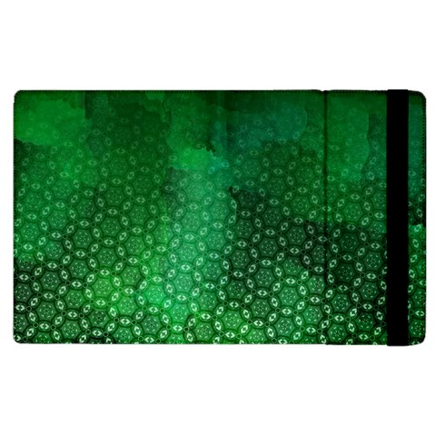 Ombre Green Abstract Forest Apple iPad 3/4 Flip Case