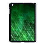 Ombre Green Abstract Forest Apple iPad Mini Case (Black) Front