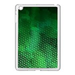 Ombre Green Abstract Forest Apple iPad Mini Case (White) Front