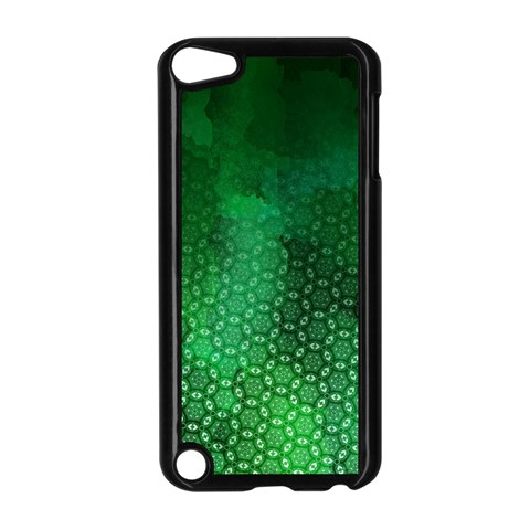 Ombre Green Abstract Forest Apple iPod Touch 5 Case (Black)