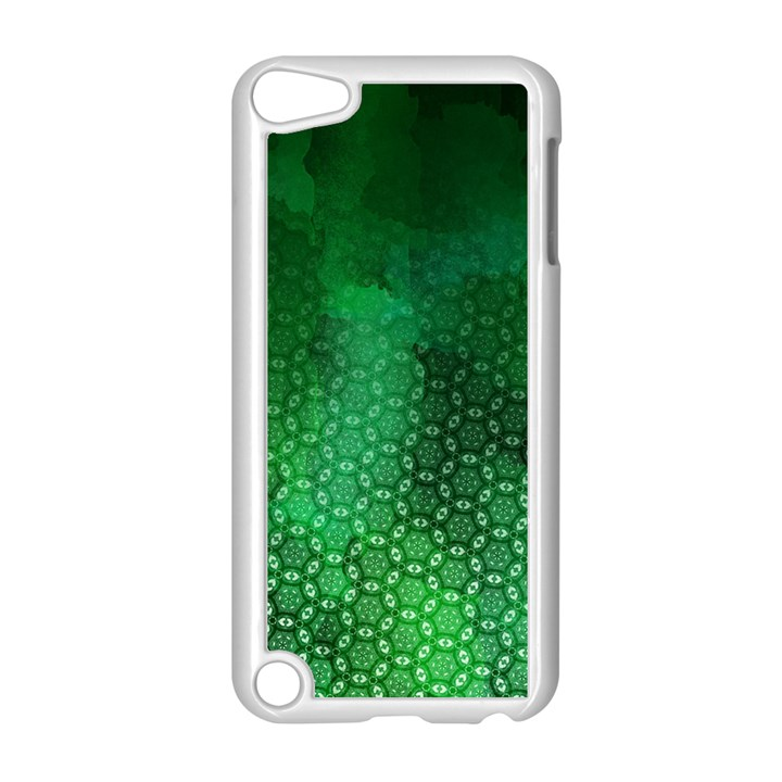 Ombre Green Abstract Forest Apple iPod Touch 5 Case (White)