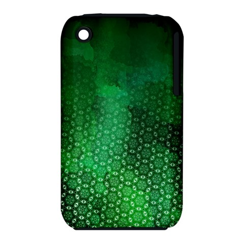Ombre Green Abstract Forest Apple iPhone 3G/3GS Hardshell Case (PC+Silicone)
