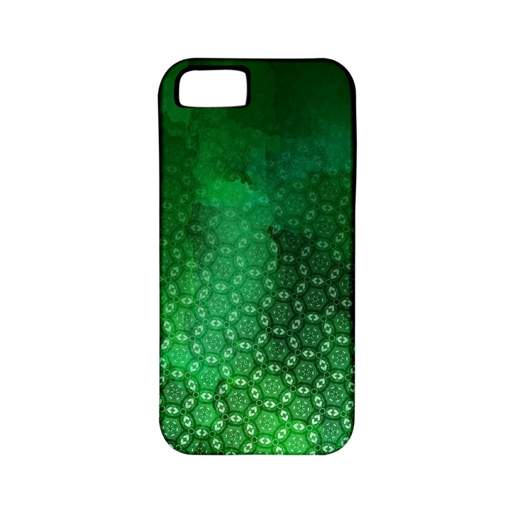 Ombre Green Abstract Forest Apple iPhone 5 Classic Hardshell Case (PC+Silicone)
