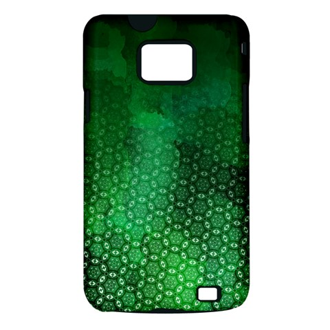 Ombre Green Abstract Forest Samsung Galaxy S II i9100 Hardshell Case (PC+Silicone)