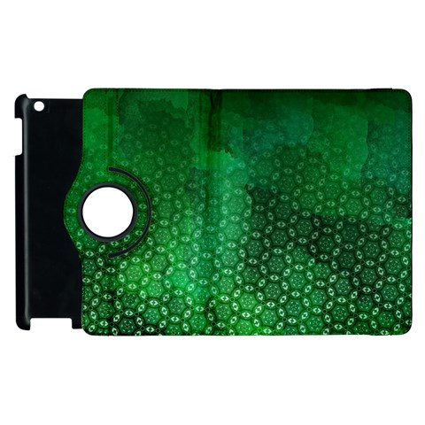 Ombre Green Abstract Forest Apple iPad 2 Flip 360 Case