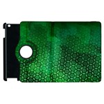 Ombre Green Abstract Forest Apple iPad 2 Flip 360 Case Front