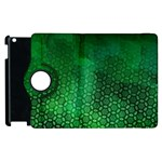 Ombre Green Abstract Forest Apple iPad 3/4 Flip 360 Case Front