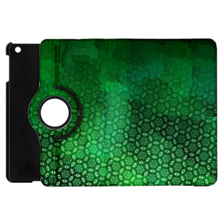 Ombre Green Abstract Forest Apple iPad Mini Flip 360 Case