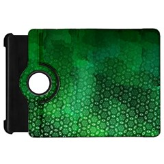 Ombre Green Abstract Forest Kindle Fire HD Flip 360 Case