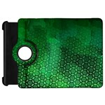 Ombre Green Abstract Forest Kindle Fire HD Flip 360 Case Front