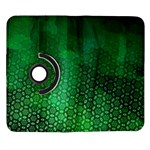 Ombre Green Abstract Forest Samsung Galaxy Note II Flip 360 Case Front