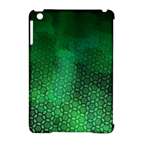 Ombre Green Abstract Forest Apple iPad Mini Hardshell Case (Compatible with Smart Cover)