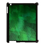 Ombre Green Abstract Forest Apple iPad 3/4 Case (Black) Front
