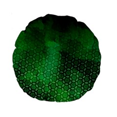 Ombre Green Abstract Forest Standard 15  Premium Round Cushions