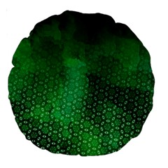 Ombre Green Abstract Forest Large 18  Premium Round Cushions