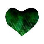 Ombre Green Abstract Forest Standard 16  Premium Heart Shape Cushions Back