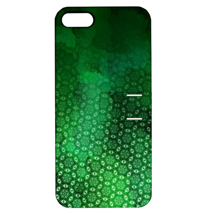 Ombre Green Abstract Forest Apple iPhone 5 Hardshell Case with Stand