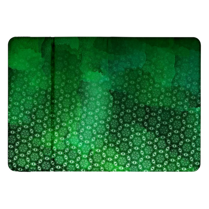 Ombre Green Abstract Forest Samsung Galaxy Tab 8.9  P7300 Flip Case